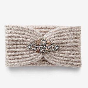 Express•Knit Jeweled Head-Wrap/Ear Warmer•NWOT